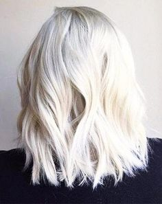 Platinum looks never go out of fashion, so it's never too late to try this edgy blonde color. Image via Pinterest-Thefashionspot