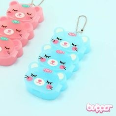 Use these kawaii multi-function neko pill boxes for storing all kinds of small items including medicine, jewelry, candy and other small stuff. The box has 3 separate compartments and a small metal chain that you can use to attach the box to your keys, bag or wallet. So handy!