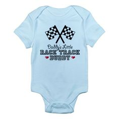 Daddy's Little Race Track Buddy Infant Bodysuit
