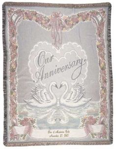 Personalized Our Anniversary Tapestry Throw