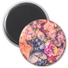 Beautiful Assorted Floral Background | Magnet - rose style gifts diy customize special roses flowers