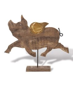 Look at this Barnwood Flying Pig Figurine on #zulily today!