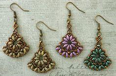 Linda's Crafty Inspirations: ADwade's SuperDuo Earrings