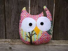 Owl measures approximately 5x6 inches  All details are securely machine stitches making this item safe for all ages  Generously stuffed with
