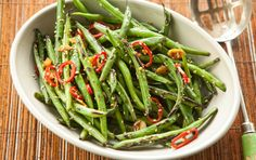 Fiery Wok-Seared Green Beans Recipe (Photo courtesy of Whole Foods Market) Wok Recipes, Side Dish Recipes, Vegetable Recipes, Whole Food Recipes, Vegetarian Recipes, Cooking Recipes, Healthy Recipes, Protein Recipes, Soy Sauce Green Beans