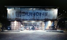 Garage or garden shed from shipping containers