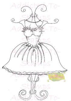 Party Dress Digi Stamp By Sherri Baldy