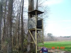 DIY Deer Stand | Homemade Ladder Deer Stands Homemade wooden ladder stand