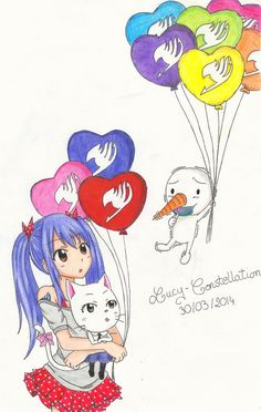 Fairy Tail Wendy, Carla, Plue wow Plue's flying