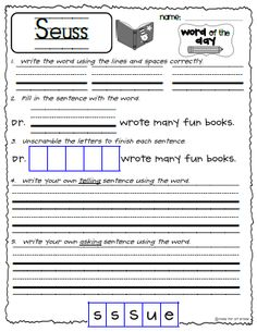 Celebrate Dr. Seuss&#39- birthday with this emergent reader! Based on ...