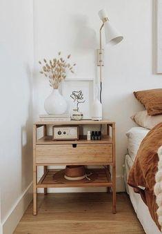 Room Ideas Bedroom, Home Decor Bedroom, Simple Bedroom Decor, Diy Bedroom, Master Bedrooms, Neutral Bedroom Decor, Bed Room, Wooden Bedroom, Bedroom Signs