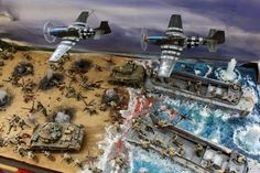 Massive D-Day Diorama Spitfire Model, Forte Apache, Omaha Beach, Miniature Photography, Military Action Figures, Ww2 Pictures, Miniature Cars, Model Hobbies, Model Tanks