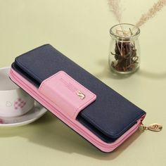 Fashion Women Wallets Brand PU Leather Long Leather Women Clutch Bag Hasp Zipper Wallet Card Holders Clutch Money Bag Carteira #womenwallets #wallets #clutches