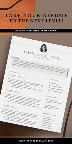 Creative resume template that will help to get the job of your dreams faster! Easy to customize on Word and Apple Pages. Designed by an experienced CreatedResume team these resume templates will catch an eye and help you outstand from the others. #resume #resumetemplate #modernresume #resumeformat #resumedesign #resumetips #createdresume #cv #cvtemplatepeople Resume Format Examples, Good Resume Examples, Basic Resume, Professional Resume, Microsoft Word 2007, Manager Resume, How To Memorize Things, Things To Sell, Creative Resume Templates