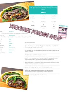 Slimming world Yorkshire pudding wrap 3 syns each Slimming World Yorkshire Pudding, Yorkshire Pudding Wrap, Syn Free, Slimming World Recipes, Food Hacks, Cooking Recipes, Beef, Meals, Dinner