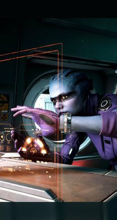 Don't know about you, but i loved peebee already, damn, i'm a blue beauties addict, can't help it, don't want to cure it. #AndromedaRedifined