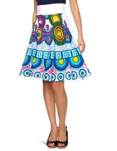 Desigual Escorpio A-Line Women's Skirt Carmin