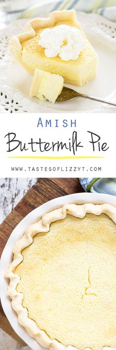 This smooth, custard-like Amish Buttermilk Pie is a unique recipe with a sweet, fresh flavor.