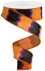WIRED RIBBON – GyPsy BaRn ChiX Halloween Ribbon, Halloween Crafts, Fall Projects, Craft Projects, Wreath Making Supplies, Wreath Crafts, Wired Ribbon, How To Make Wreaths, Decoration