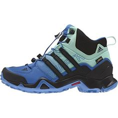 c713e6fbd65baf Adidas Outdoor Terrex Swift R Mid GTX Hiking Boot - Women s Ray Blue Black