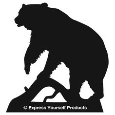 bear silhouette - Google Search