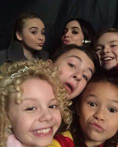 Sabrina Carpenter and the cast of Adventures In Babysitting