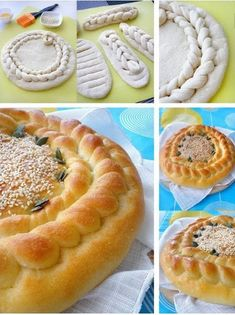 56 Gorgeous from Each Other of Homemade Pastries, Easy Food Decorations - Delicious Food Kids Braided Bread, Bread Bun, Pastry Recipes, Bread Recipes, Cooking Recipes, Bulgarian Recipes, Russian Recipes, Pan Comido, Sweet & Easy