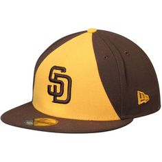 56ec8a46efe Men s New Era Brown Gold San Diego Padres Authentic Collection On-Field 59FIFTY  Fitted Hat