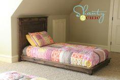 The original Ana white filman pottery barn platform bed plans diy!