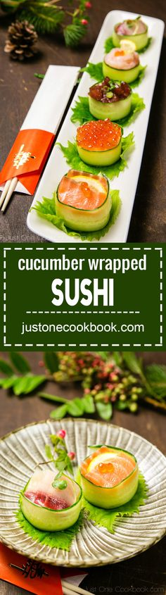 Cucumber Wrapped Sushi (きゅうりの軍艦巻き) | Easy Japanese Recipes at…