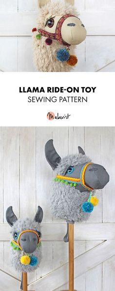 Llama Ride-on Toy sewing pattern via Makerist.com