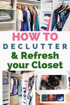 Best closet cleaning and decluttering tips. Learn how to mindfully declutter and refresh your closet seasonally. Tricks to let go of items, what to donate, and what to keep. Closet Storage, Closet Organization, Organization Skills, Organizing Tips, Diy Projects On A Budget, Easy Diy Projects, Cleaning Closet, Cleaning Hacks, Laundry Hacks