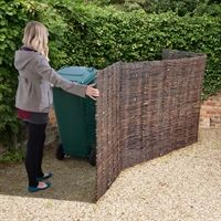 Stow away your unattractive wheelie bins using this traditional double, willow, wheelie bin store. Visit Shedstore for our fantastic range of wheelie bins. Back Gardens, Small Gardens, Outdoor Gardens, Recycling Storage, Shed Storage, Pool Storage, Sheds Direct, Garbage Can Storage, Storage Bins With Lids