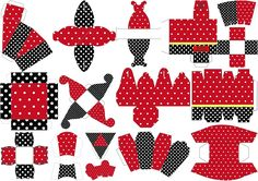 Red, Black and Polka Dots: Free Printable Boxes.   Oh My Fiesta! in english