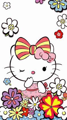 Crazy Cat Lady, Crazy Cats, Hello Kitty Wallpaper Hd, Hello Kitty Art, Hello Kitty Pictures, Colorful Wallpaper, Sanrio, Snoopy, Clip Art