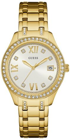 GUESS Women's Gold-Tone Classic Sport Watch. Watch fashions. I'm an affiliate marketer. When you click on a link or buy from the retailer, I earn a commission.