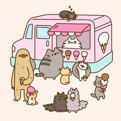 "Pusheen (@pusheen) on Instagram: ""Happy #NationalIceCreamDay! What's your favorite flavor?"""