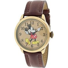 awesome MCK959 Mickey Mouse Unisex Gold Tone & Leather Classic Moving Hands Watch - For Sale Check more at http://shipperscentral.com/wp/product/mck959-mickey-mouse-unisex-gold-tone-leather-classic-moving-hands-watch-for-sale/