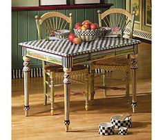 love the legs and top♥.•:*´¨`*:•♥  going to paint the porch table at camp like this