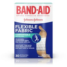 BAND-AID® Brand Flexible Fabric Adhesive Bandages for Wound Care, 30 Count