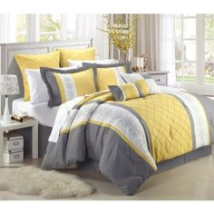 Damascus 12piece Comforter Set Queen Size Yellow BedskirtShamsDecorative Pillows and Sheet Set Included >>> Find out more about the great product at the image link.