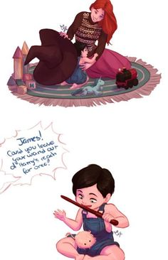 😢😢😢😢😢😢😁Too many feels also did anyone notice the play mat was Hogwarts themed Harry Potter Tumblr, Harry Potter Fan Art, Harry Potter Comics, Harry Potter Ships, Harry Potter Jokes, James Potter, Harry Potter Universal, Harry Potter World, Hogwarts