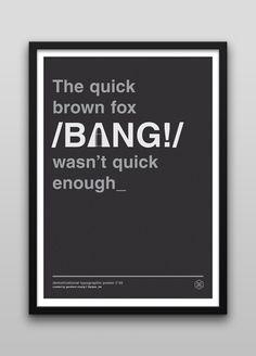 Typographic Posters by Gershom Charig