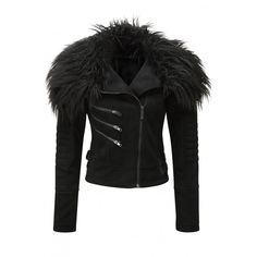 Selene faux-fur women's biker jacket by Killstar. http://www.the-black-angel.com/gothic-coats-jackets-women/1393-selene-biker-jacket-killstar.html