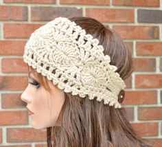 Free Crochet Patterns For Headbands With Button Closure : 1000+ images about Crochet--Headwraps on Pinterest ...