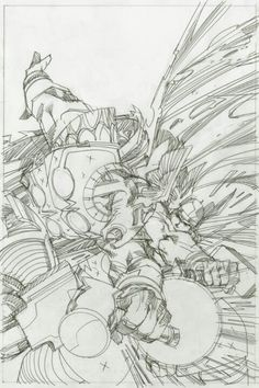 Beta Ray Bill & Thor by Walter Simonson
