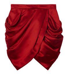 Une jupe drapée