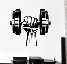 Our vinyl stickers are unique and one of a kind! Every sticker we sell is made per order and cut in house! We make our wall decals using superior quality interior and exterior glossy, removable vinyl (Fitness Planner Book) Gym Design, Fitness Design, Fitness Logo, Fitness Sport, Design Ideas, Gym Fitness, Wall Design, Wall Stickers Sports, Vinyl Wall Decals
