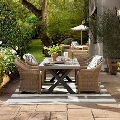 Navarro Outdoor Rectangular Dining Table #williamssonoma