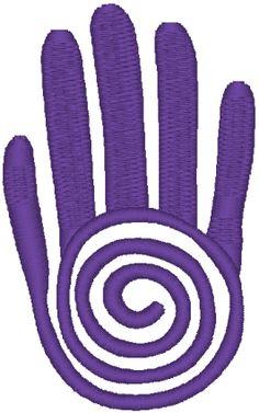 Healer's Hand - often today to symbolize the energy-emitting hand of a Reiki spiritual healer.